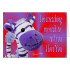 Giraffe I love U card-customise Card