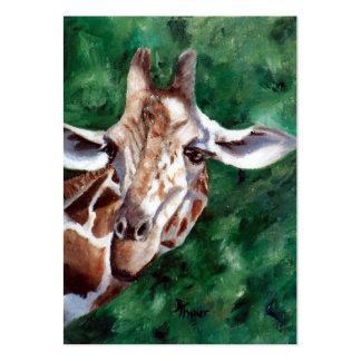 Giraffe I'm Up Here Artcard Business Cards