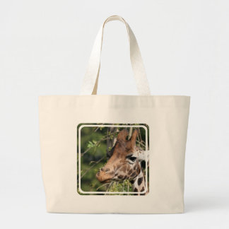 Giraffe Images Canvas Bag