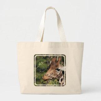 Giraffe Images Canvas Bag