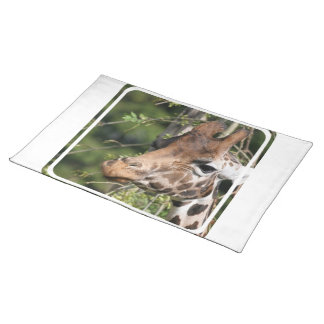 Giraffe Images  Placemat Cloth Placemat