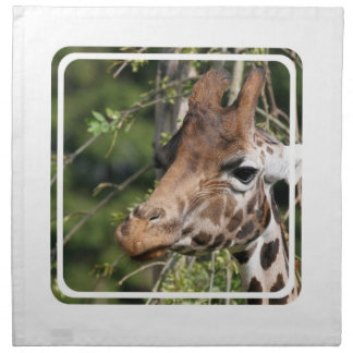 Giraffe Images  Set of Four Napkins