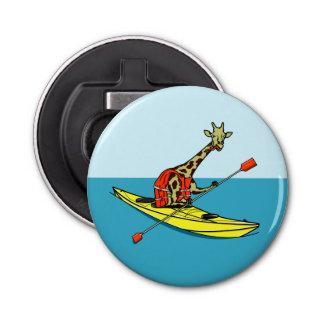 Giraffe in a kayak