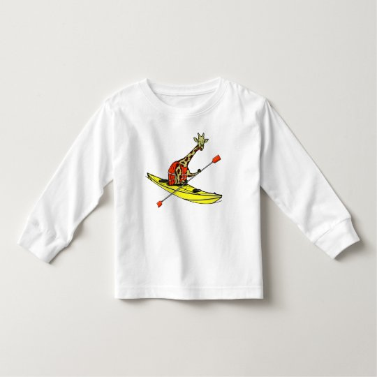Giraffe in a kayak toddler T-Shirt