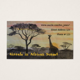 Giraffe in African Sunset Business Card