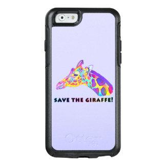 Giraffe in Colors OtterBox iPhone 6/6s Case