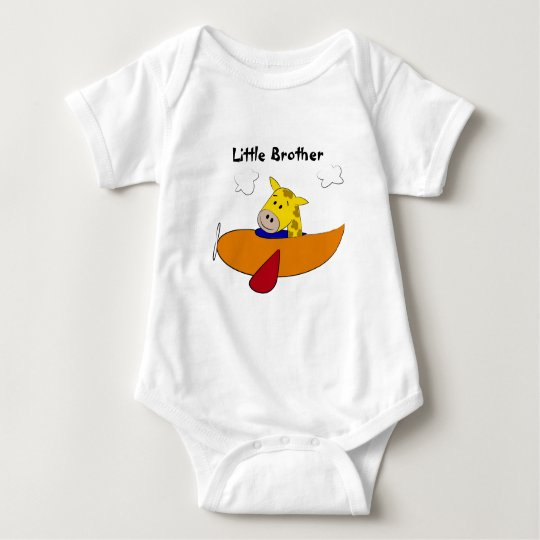 Giraffe in Plane Kids Baby Bodysuit