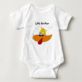 Giraffe in Plane Kids Tshirts