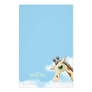 Giraffe in the Clouds Personalizable Note Paper