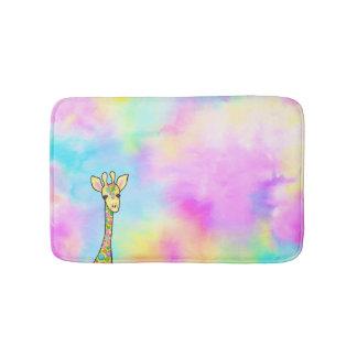 Giraffe in the Rainbow Bath Mat