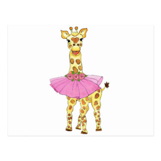 Giraffe in Tutu Postcard