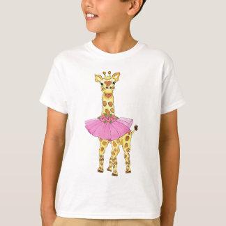 Giraffe in Tutu T Shirt