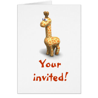 Giraffe Invitaion Note Card