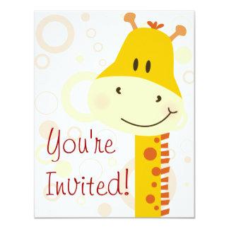 Giraffe 11 Cm X 14 Cm Invitation Card