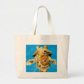 Giraffe is Not Amused Tote Bag