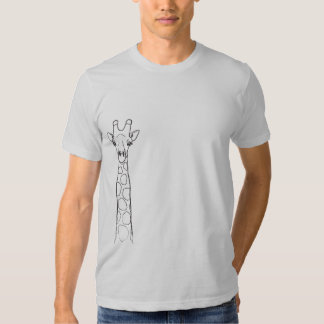 Giraffe is Watching You tee shirt