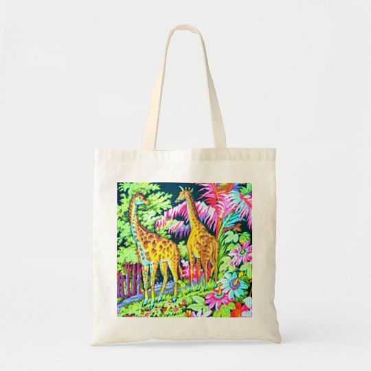Giraffe Jungle Budget BagTote Tote Bag