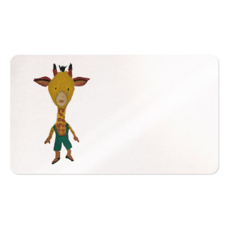 Giraffe Jungle Friends Baby Animal Water Color Pack Of Standard Business Cards