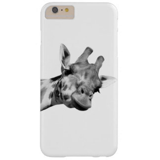 Giraffe jungle wild animal photo black and white barely there iPhone 6 plus case