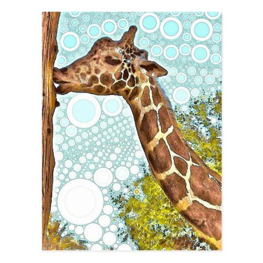 Giraffe Kiss Postcard