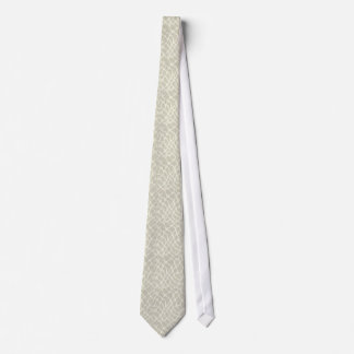 Giraffe leather skin pattern - beige color tie
