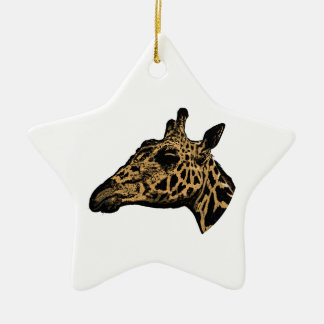 Giraffe Logo Christmas Ornament