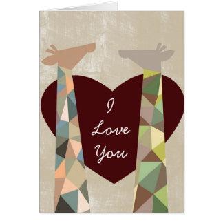 Giraffe Love Cards