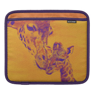 giraffe love i-pad iPad sleeve