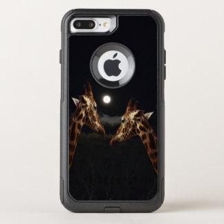 Giraffe Love In Moonlight, iPhone 7+ Case
