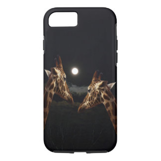 Giraffe Love In The Moonlight, Apple iPhone 7 Case