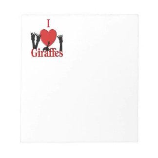 Giraffe Love Notepad