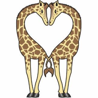 Giraffe Love Photo Sculpture Decoration