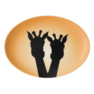Giraffe Love Porcelain Serving Platter