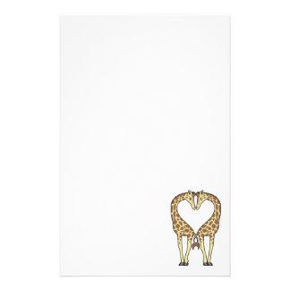 Giraffe Love Stationery