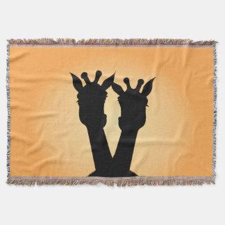Giraffe Love Throw Blanket