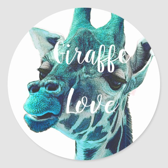 Giraffe Love Typography or Your Favourite Quote Classic
