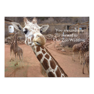 Giraffe love Wedding Invitations