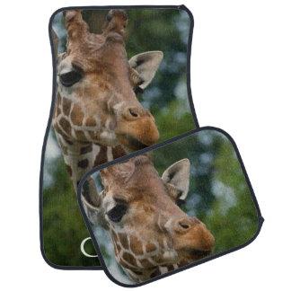 Giraffe Lovers Art Car Mat