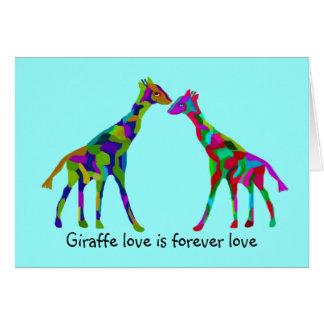 Giraffe Luv Anniversary Cards