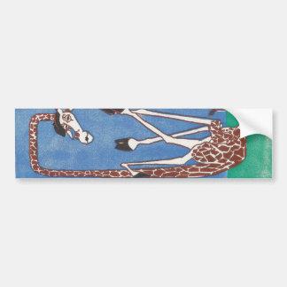 Giraffe Mime in a Box Bumper Sticker
