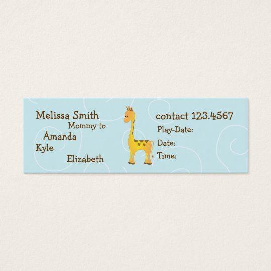 Giraffe Mini Business Card