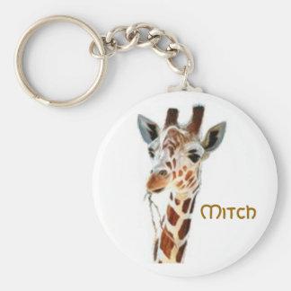 giraffe, Mitch Key Ring