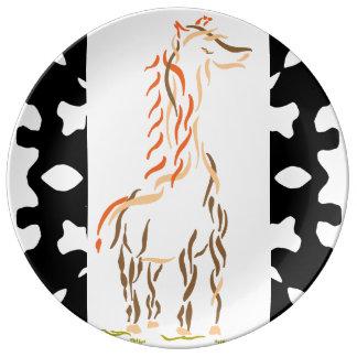 Giraffe Modern Art Plate 2