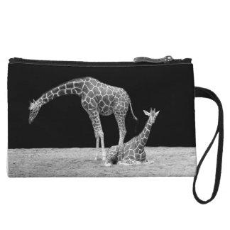 Giraffe Monochrome Clutch Bag - KawaiiDayZooCafe Wristlet Purses