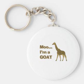 Giraffe moo I'm a goat Key Ring