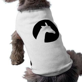 Giraffe moon sleeveless dog shirt