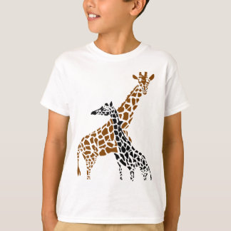 Giraffe Mother and Child Tshirt