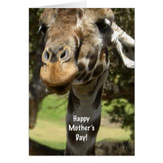 giraffe mother s day card