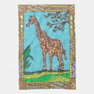 Giraffe Mum and Baby Kitchen Towel