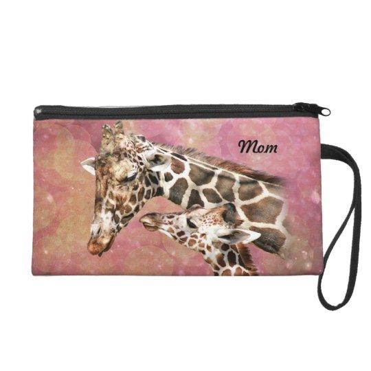 Giraffe Mum and Baby Wristlet